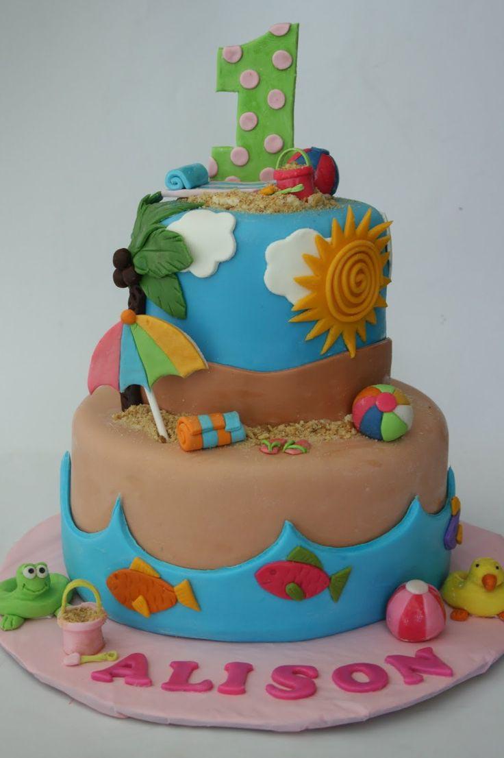 Beach Party Birthday Cakes