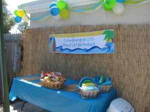Beach Themed 1st Birthday Party