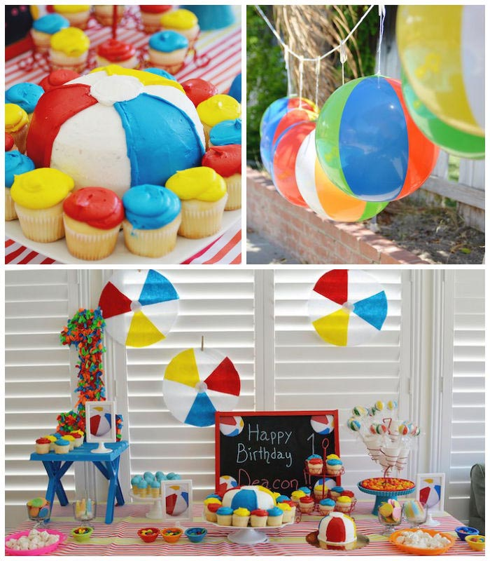 Breeze smell of a beach birthday party home party ideas for Beach theme decorations for home