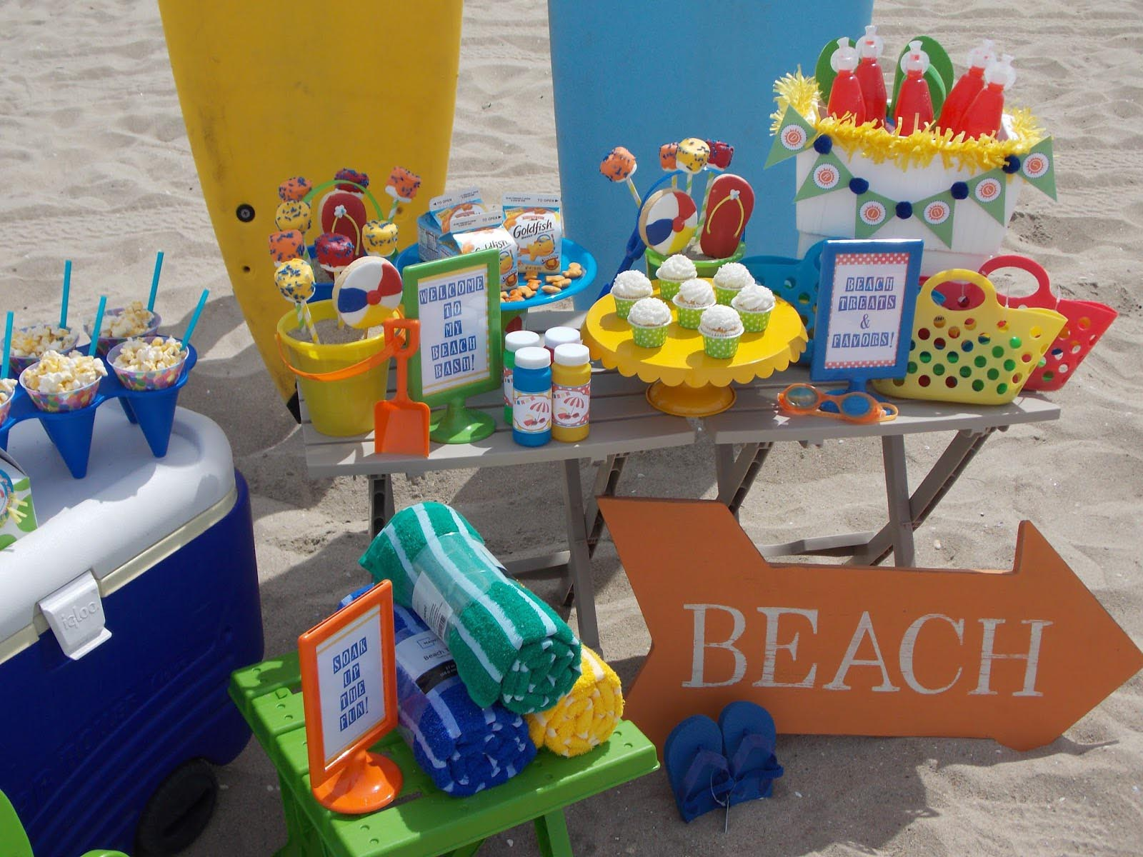 beach themed kid birthday party home party ideas