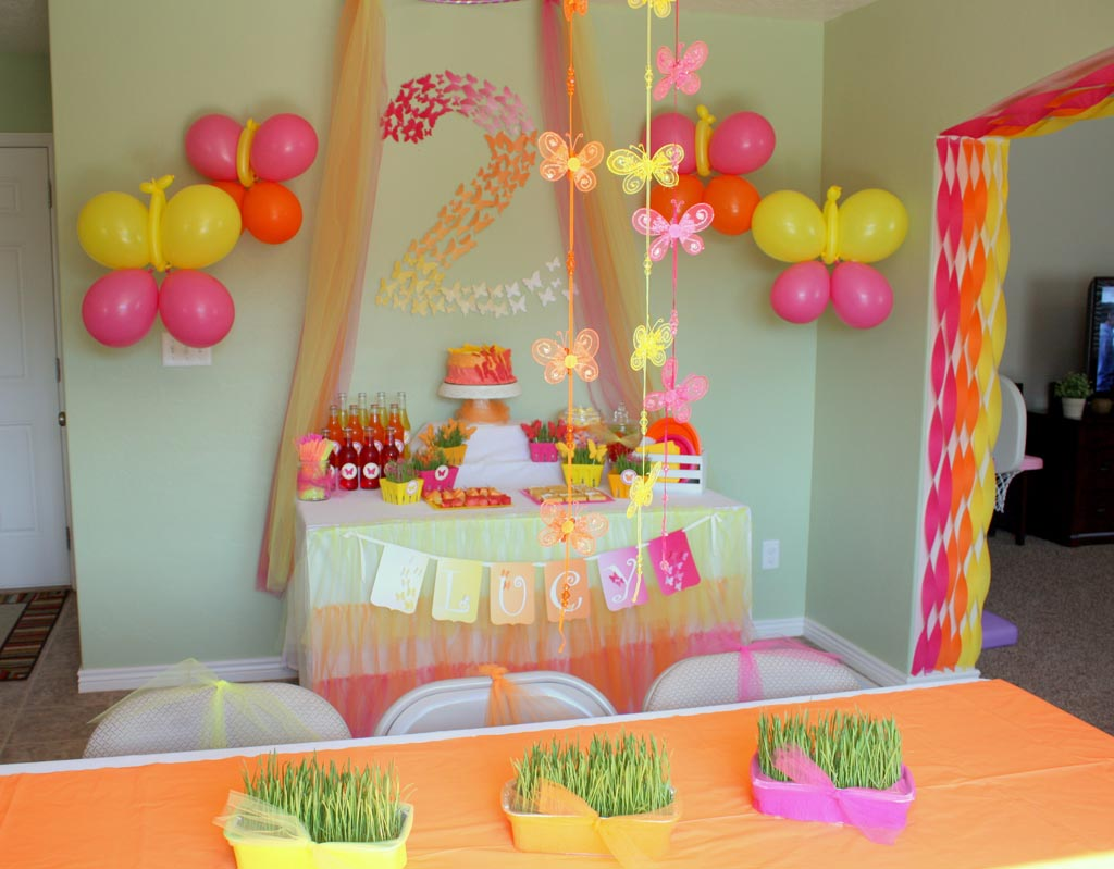 Butterflies Birthday Party Ideas