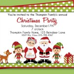 Christmas Birthday Party Invitations