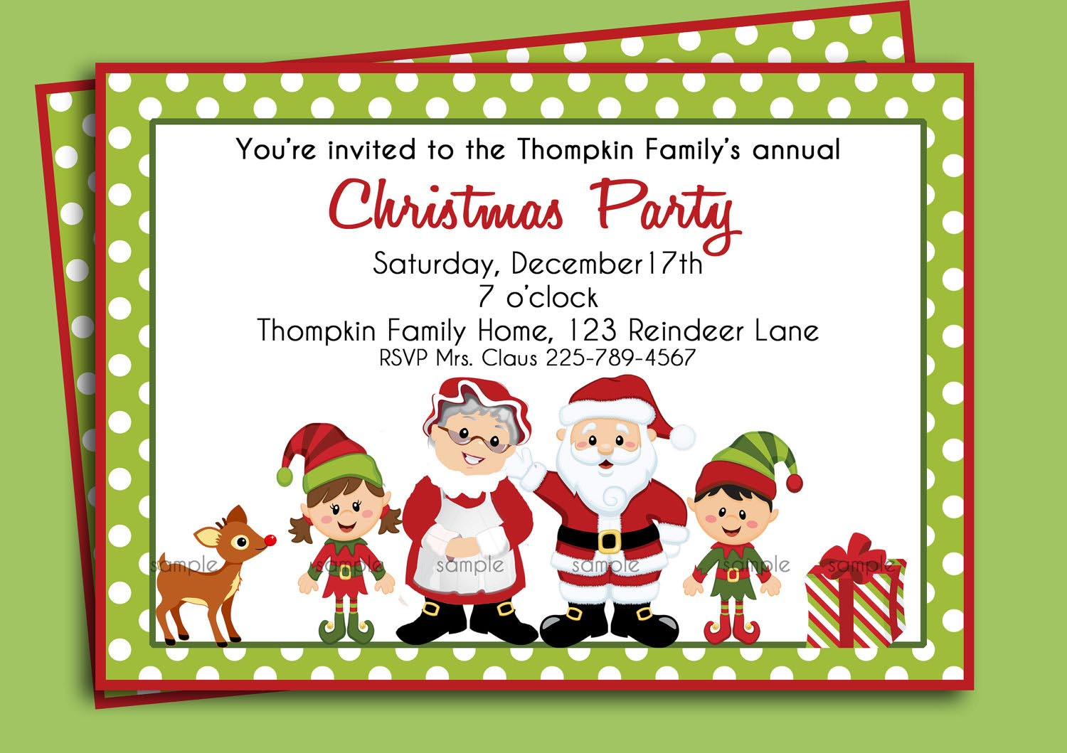 Christmas Party Poster Ideas Part - 44: Christmas Birthday Party Invitations