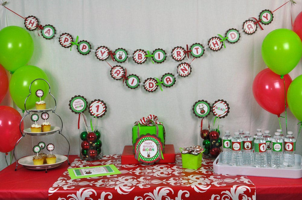Christmas Birthday Party Ideas Part - 22: Christmas Themed Birthday Party Ideas