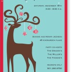 Christmas Themed Birthday Party Invitations