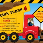 Construction Invitations Birthday Party