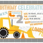 Construction Invites Birthday Party