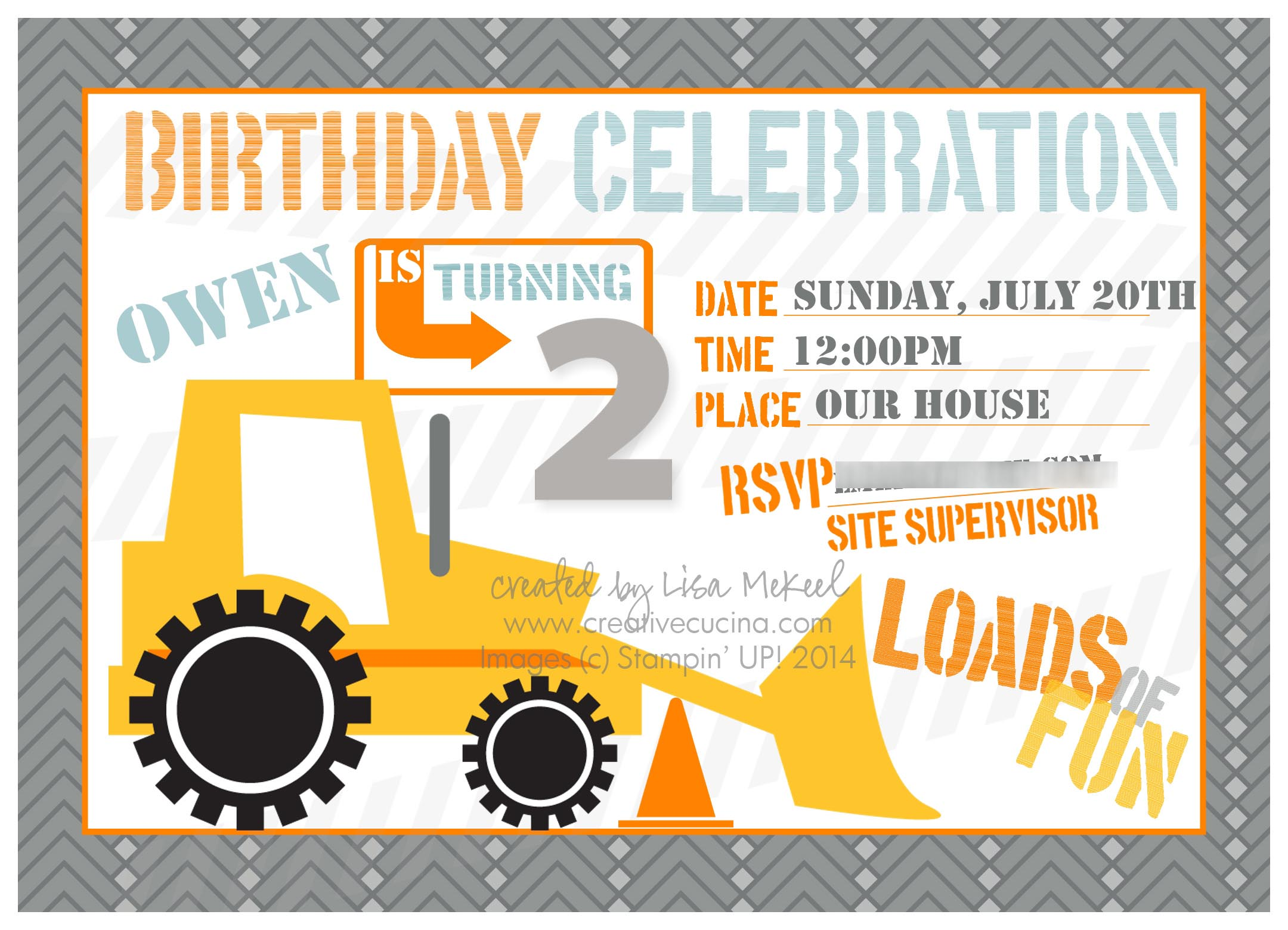 Give the green light to a construction birthday party home party ideas construction invites birthday party stopboris Gallery