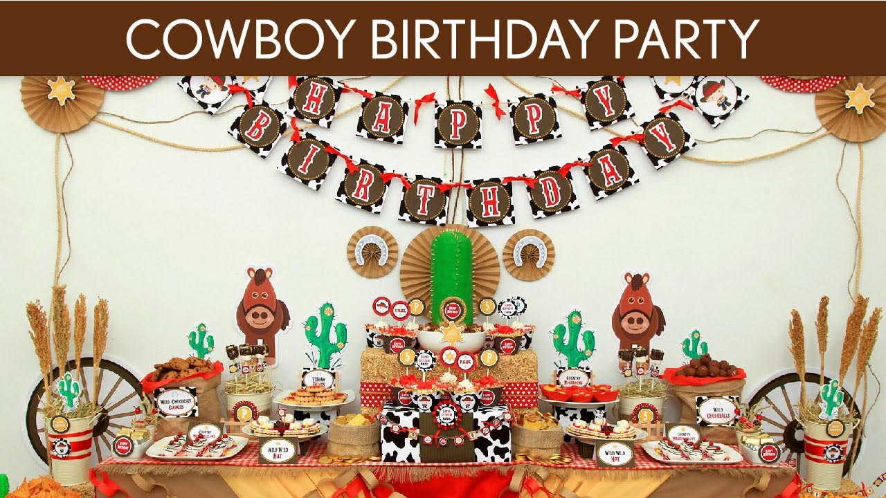 Cowboy 1st Birthday Party Ideas