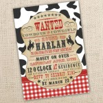 Cowboy Themed Birthday Party Invitations