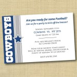 Dallas Cowboy Birthday Party Invitations