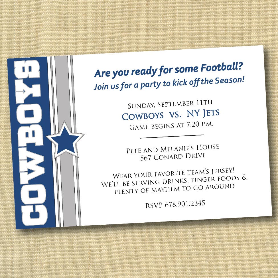 Dallas cowboy birthday party invitations home party ideas dallas cowboy birthday party invitations filmwisefo