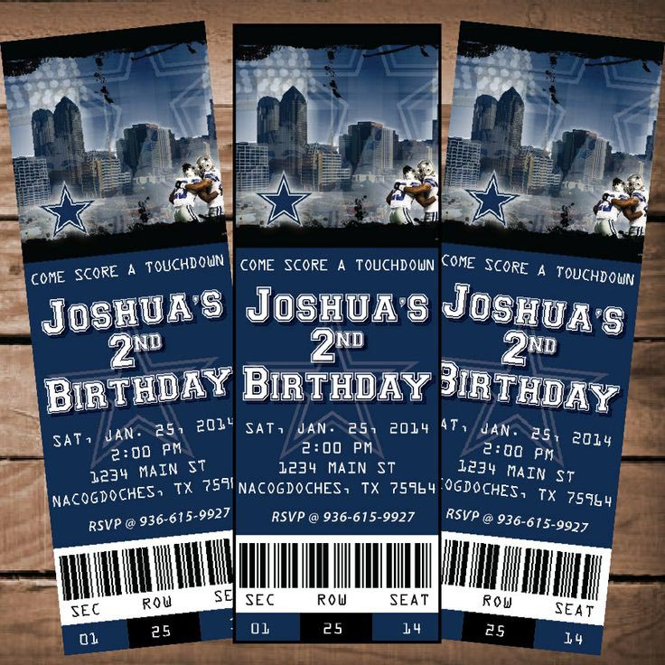 Dallas cowboys birthday party invitations home party ideas dallas cowboys birthday party invitations filmwisefo Gallery