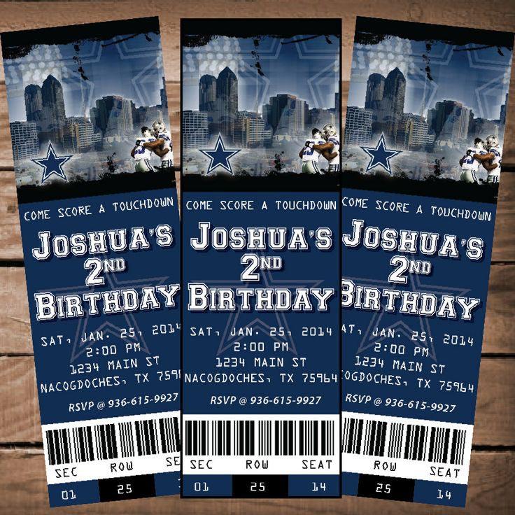 Dallas Cowboys Birthday Party Invitations