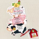Farm Animal Birthday Party Invitations