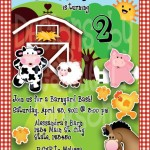 Farm Animals Birthday Party Invitations
