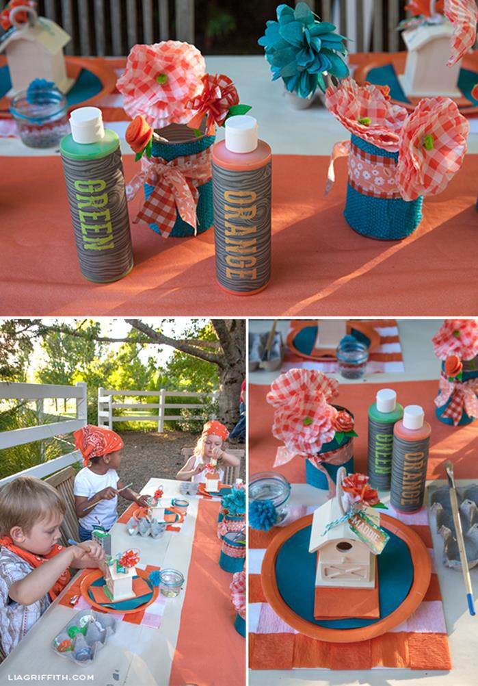 The coolest farm birthday party home party ideas for Animal party decoration ideas