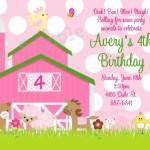 Farm Invitations Birthday Party