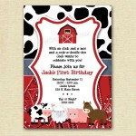 Farm Themed Birthday Party Invitations