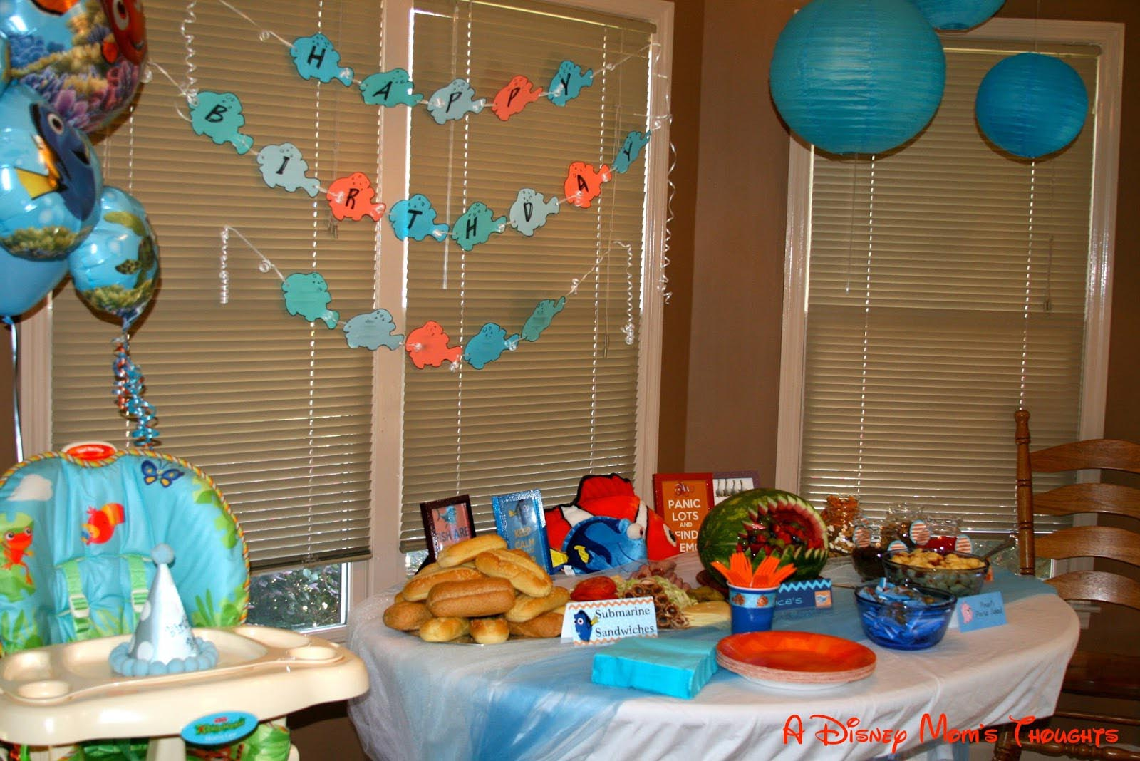 Finding Nemo 1st Birthday Party Supplies