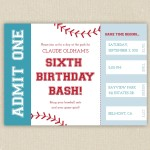 Free Printable Baseball Birthday Party Invitations