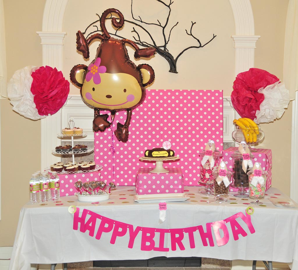 Girl Monkey Birthday Party
