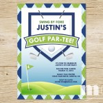 Golf Themed Retirement Party Invitations