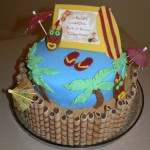 Hawaiian Birthday Party Cakes