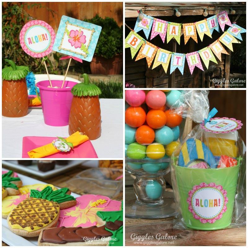 Hawaiian Birthday Party for Adults
