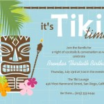 Hawaiian Birthday Party Invitation