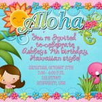 Hawaiian Birthday Party Invitations Templates