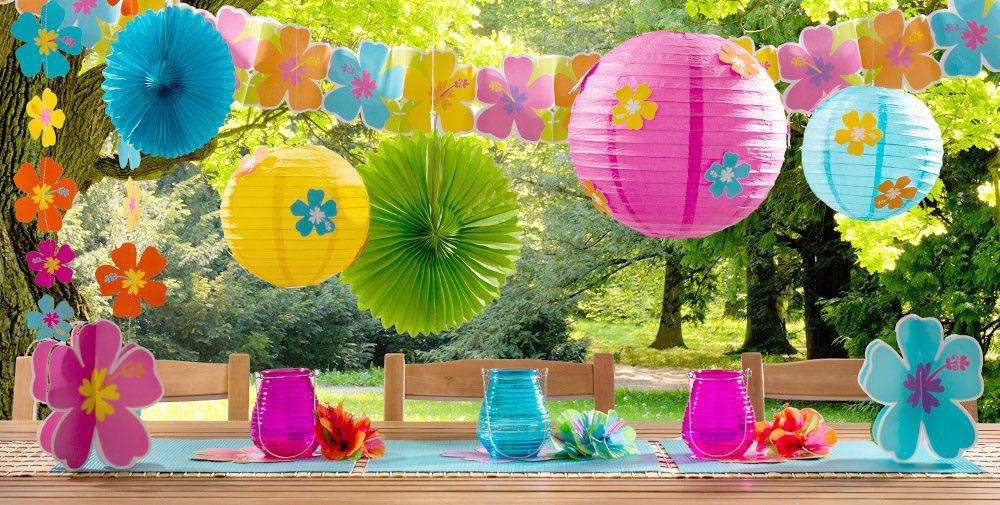 Hawaiian Birthday Party Supplies