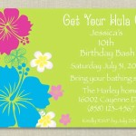 Hawaiian Themed Birthday Party Invitations
