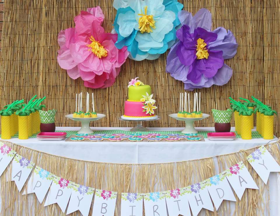 Hawaiian Themed Birthday Party