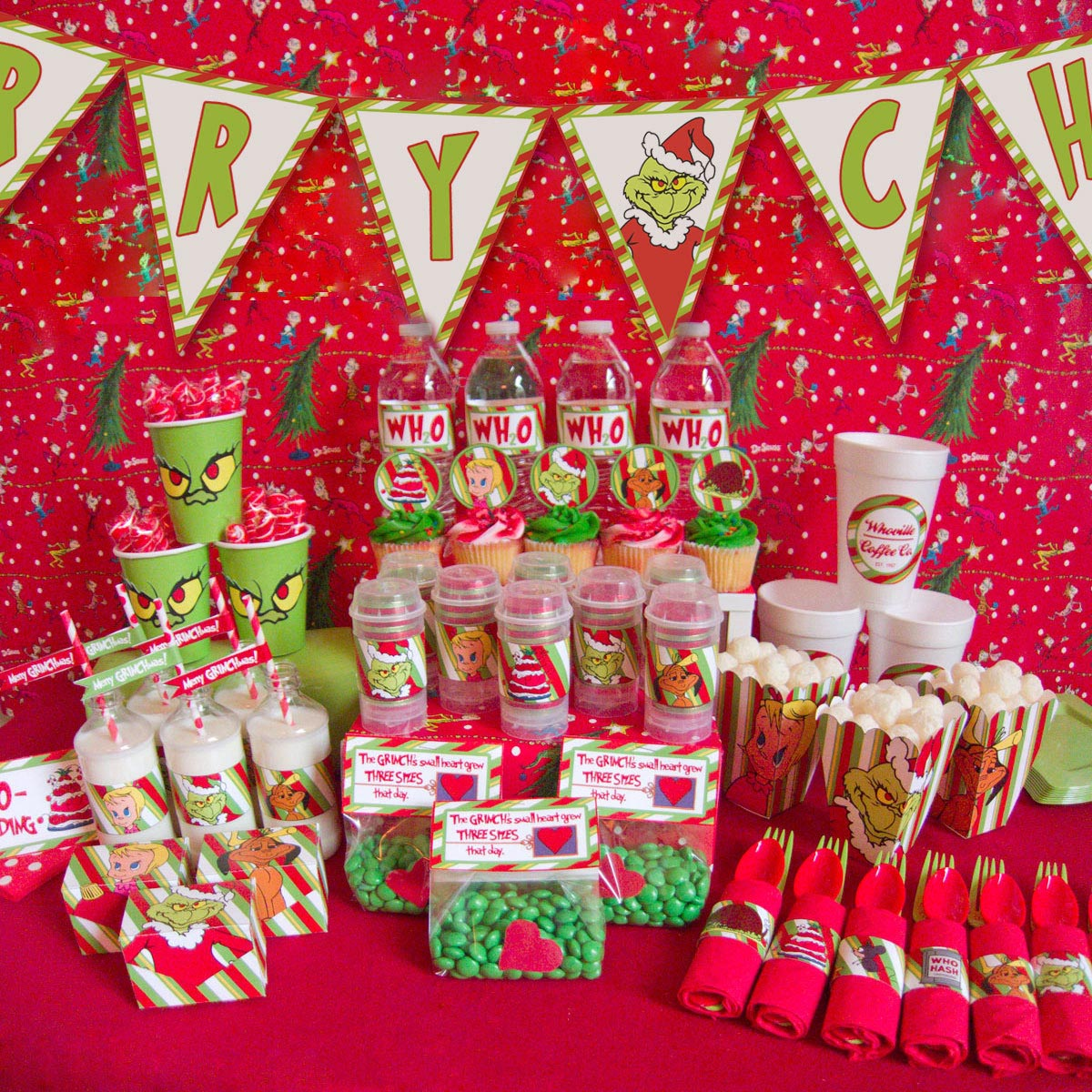 Superior Christmas Birthday Party Ideas Part - 6: How The Grinch Stole Christmas Birthday Party Ideas