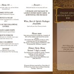 Italian Themed Dinner Party Menu