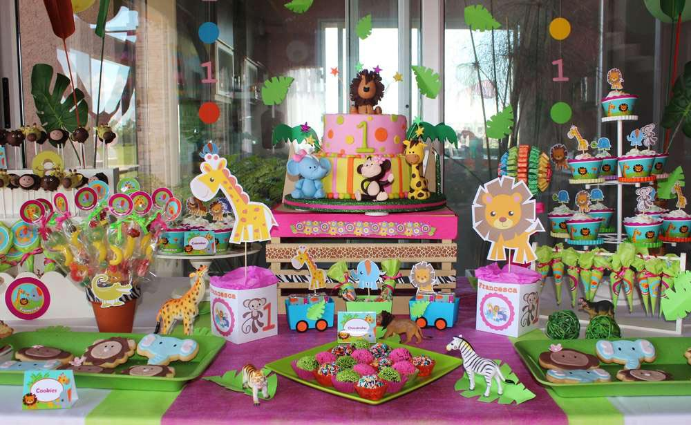 Jungle Animal Birthday Party
