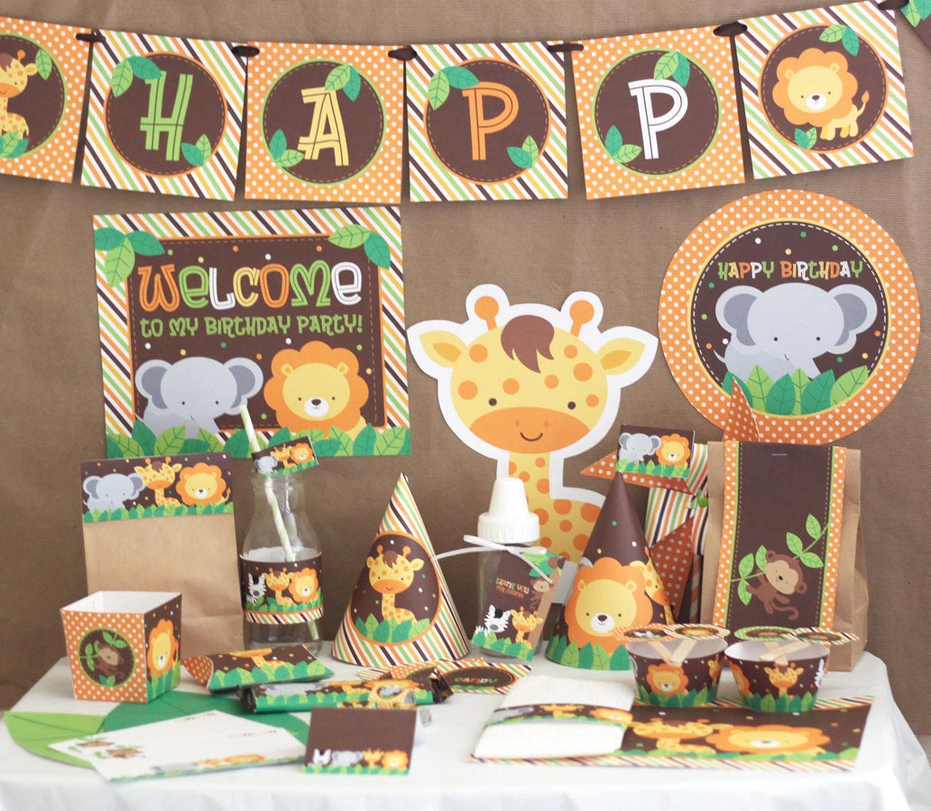 Jungle birthday party decorations home party ideas for Home decorations birthday party