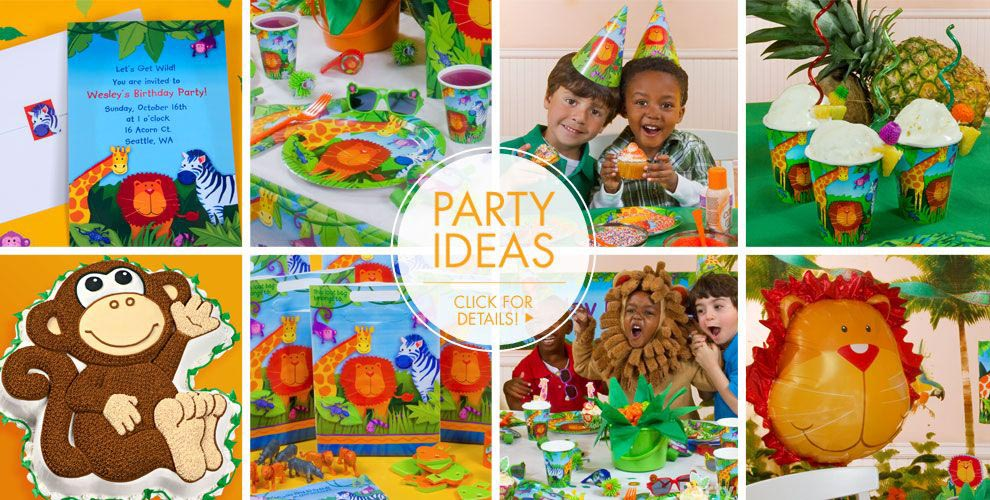 Jungle Theme Birthday Parties