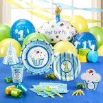 Monkey 1st Birthday Party Supplies Boy