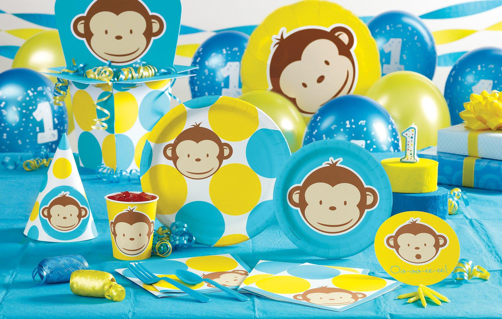 Monkey Birthday Party Decorations