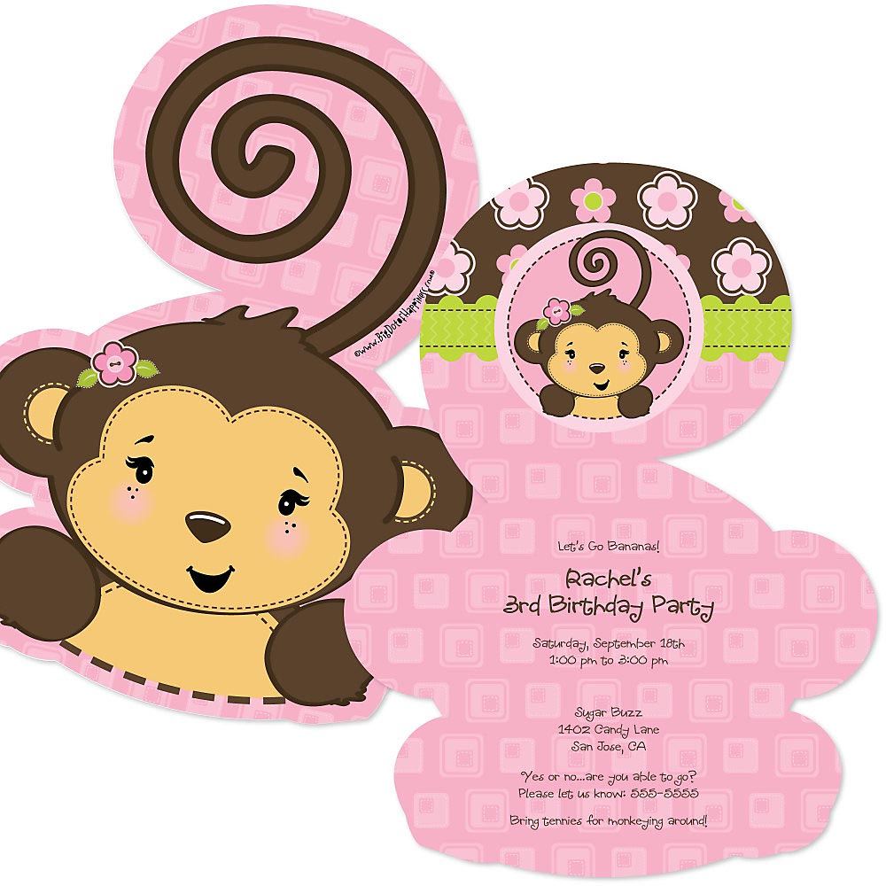 Monkey Birthday Party Invitations