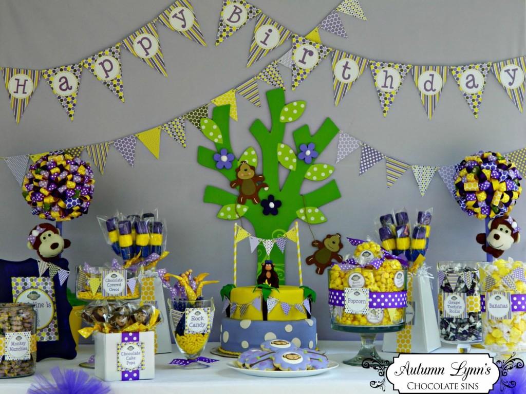 Monkey Birthday Party Theme