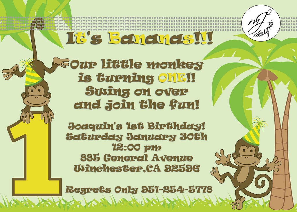Monkey Party Supplies 1st Birthday