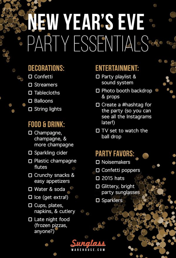 New Years Eve Party Planning Checklist
