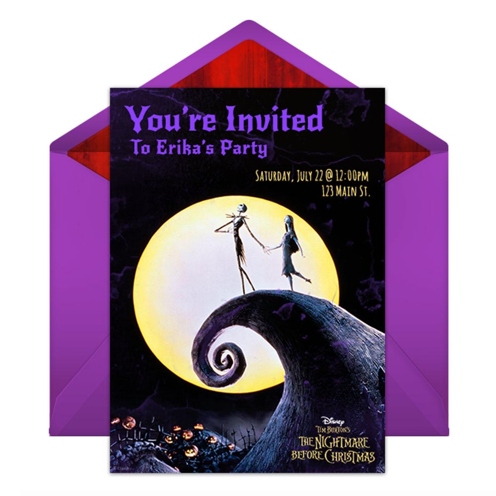 Nightmare Before Christmas Birthday Party Invitations
