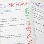 Planning a Party Checklist