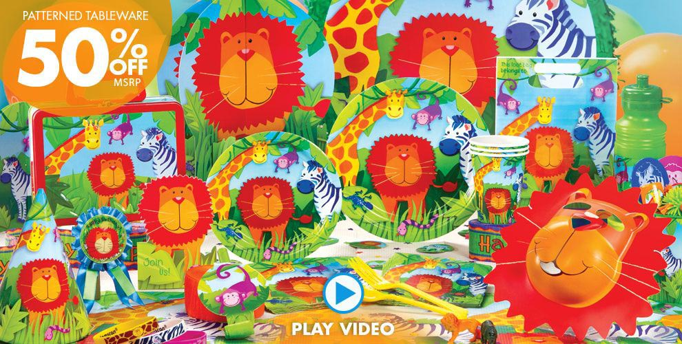 Safari Birthday Party Supplies
