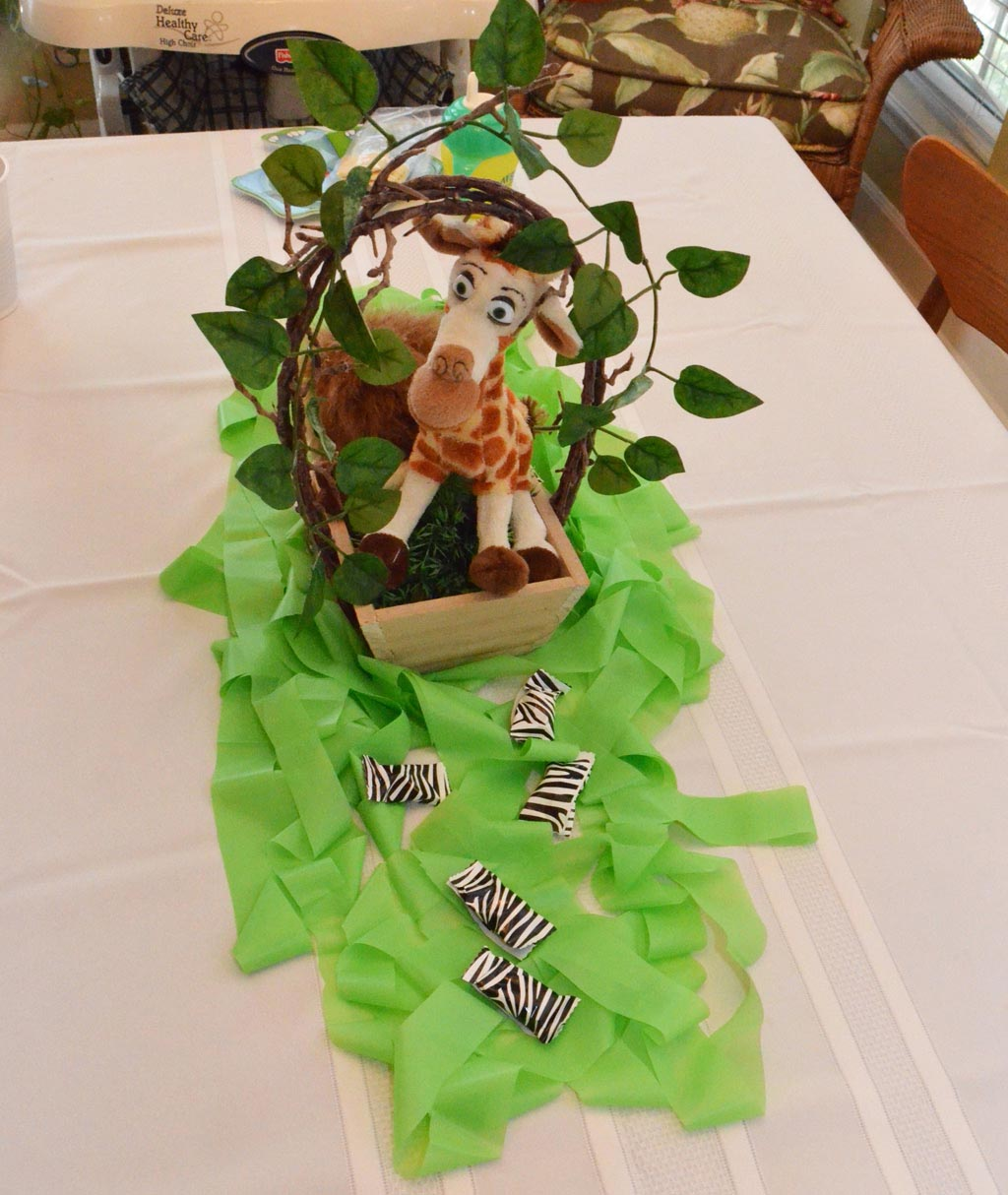 Safari Centerpieces for Birthday Party