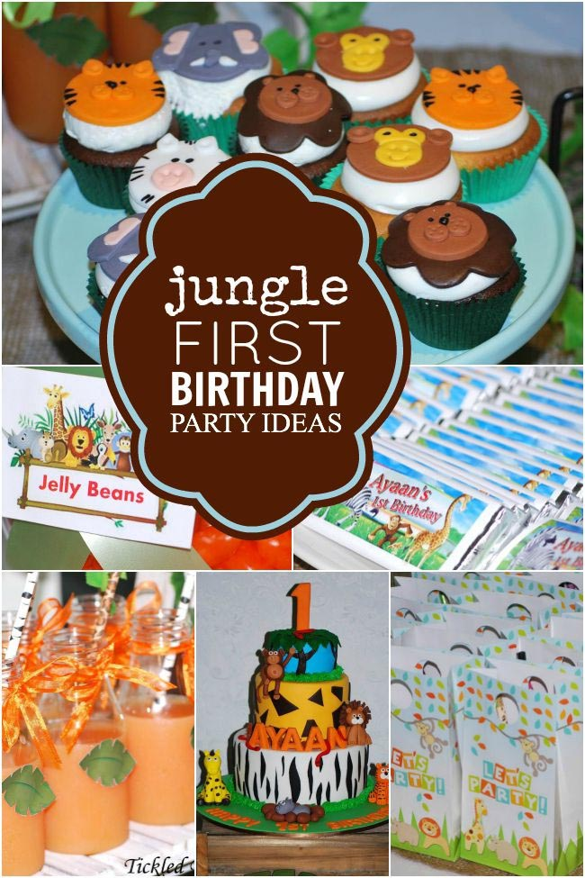Safari First Birthday Party